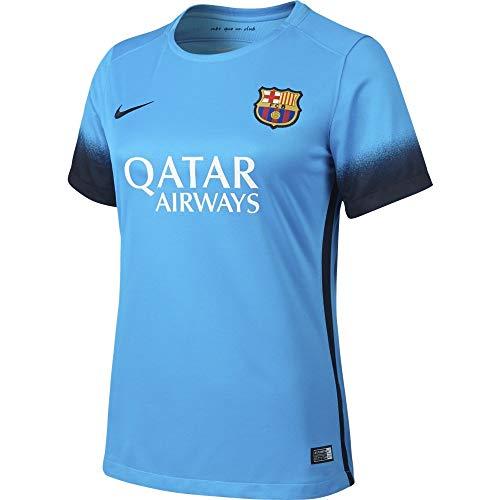 buy online 201a6 05d26 Nike Women's FC Barcelona 15/16 Third Light Current Blue ...