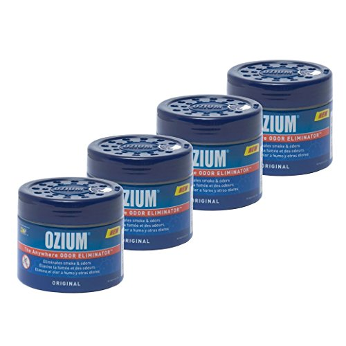 Ozium Smoke & Odors Eliminator Gel. Home, Office and Car Air Freshener 4.5oz (127g), Original Scent (Pack of 4)