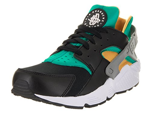Nike Mens Air Huarache Black/White/Emerald/Resin Running Shoe 13 Men - Us Resin