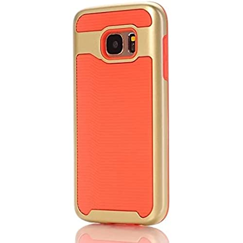 Samsung S7 Case, Haoshi Wavy 2 in 1 Armor Case Shockproof Drop Resistence Back Case for Samsung Galaxy S7 (PC+TPU, Orange) Sales