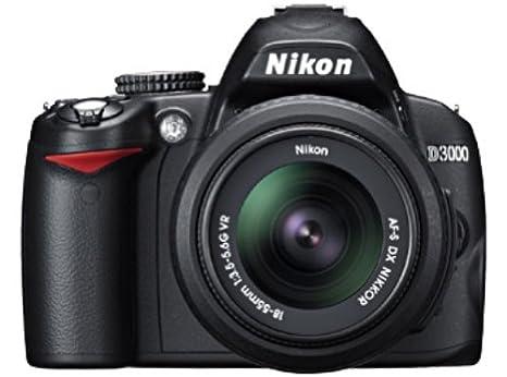 Nikon D3000 - Cámara réflex (10 megapíxeles) con objetivo 18-55 mm ...