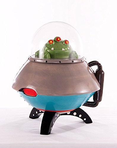 UFO Space Ship Space Age LED Light Up Cookie Jar Container New (Collectibles Ufo)