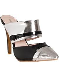 Womens Celina Contrast-detail Stilettos, Black