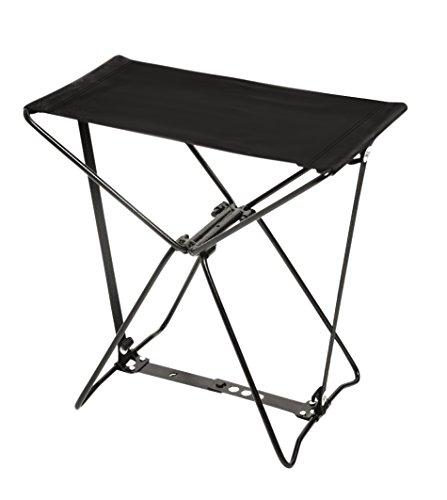 Bo-Camp kruk, draagbaar, compact, staal, zwart