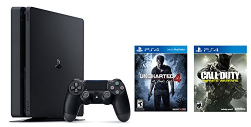 Playstation-4-Slim-2-items-Bundle-PlayStation-4-Slim-500GB-Console-Uncharted-4-Bundle-and-Call-of-Duty-Infinite-Warfare-Standard-Edition-Game-Disc