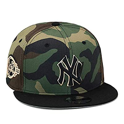 New Era 9fifty New York Yankees Snapback Hat Cap Camo/Black/100th Anniversary Patch