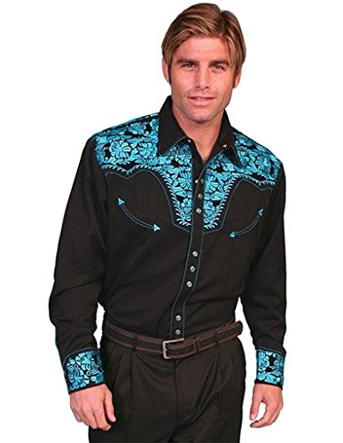 scully-mens-turquoise-hued-embroidery-retro-western-shirt-black-large
