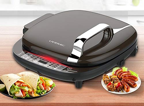 - Liven Electric Baking Pan Skillet Griddle LR-D7350, 3 Power Control, Digital Display, Easy to Clean