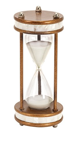 Large Hourglass (Deco 79 Metal/Glass 60 Minute Hourglass, 13 by 6-Inch)