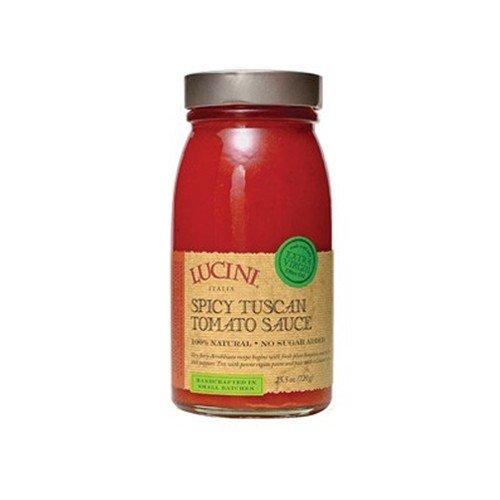 Lucini Italia Certified Organic Organic Spicy Tuscan Tomato - 25.5 oz (Pack of 4)