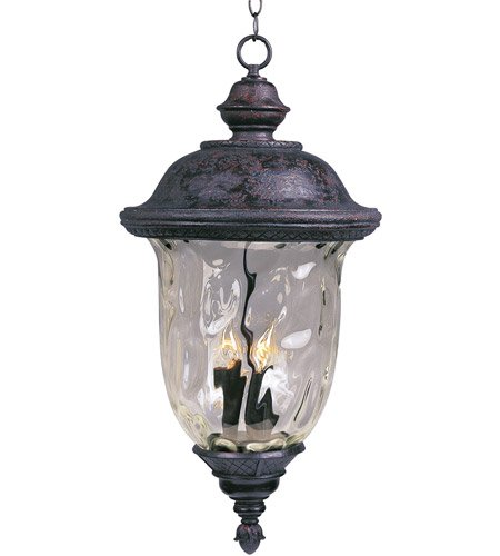 Maxim 3427WGOB Lighting Fixture in Oriental Bronze Finish - Outdoor Hanging Lantern for Courtyards, Gardens, Pool Sides. Home Decor Accessory (Pendant Carriage Light)