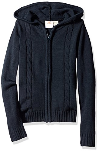 Hooded Blue Sweater (Dockers Big Girls' Hooded Cable Sweater, Navy, Medium (8/10))