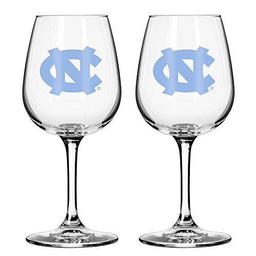 NCAA North Carolina Tar Heels Game Day Wine Glass, 12-ounce, - Glasses North