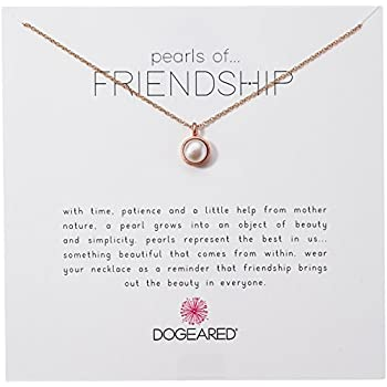 Intelligent White Freshwater Pearl & Rose Gold Plated Chain Pendant Necklace Jewellery & Watches