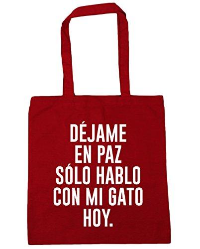 Rojo x HippoWarehouse DÉJAME Bolso HABLO Con gimnasio PAZ para de capacidad EN HOY Bolsa 42cm 10 Asas CON litros 38cm Compra SOLO Playa MI GATO FSAwFqrxH