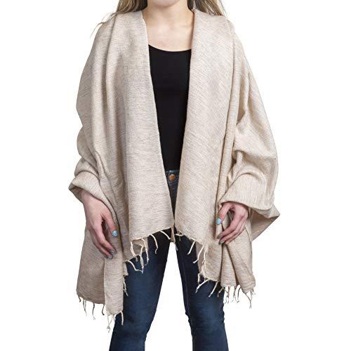 (Wrappers Handmade Wool Shawl Wrap Pashmina Oversized Scarf 50