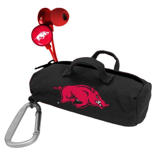 NCAA Arkansas Razorbacks Scorch Earbuds with Bud Bag