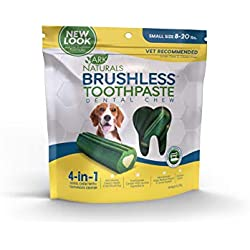 Ark Naturals Brushless Toothpaste, Vet Recommended Natural Dental Chews for Small Dogs, Plaque, Tartar and Bacteria Control