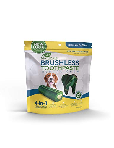 Ark Naturals Brushless Toothpaste, Vet Recommended Natural Dental Chews for Dogs, Plaque, Tartar and Bacteria Control (Best Way To Treat Bad Breath)