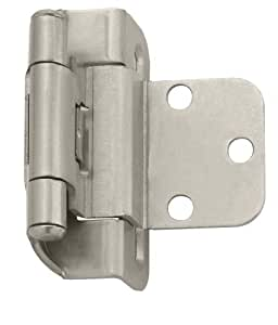 hidden cabinet hinges amerock bpr7565g10 self closing partial wrap hinge with 3 16287