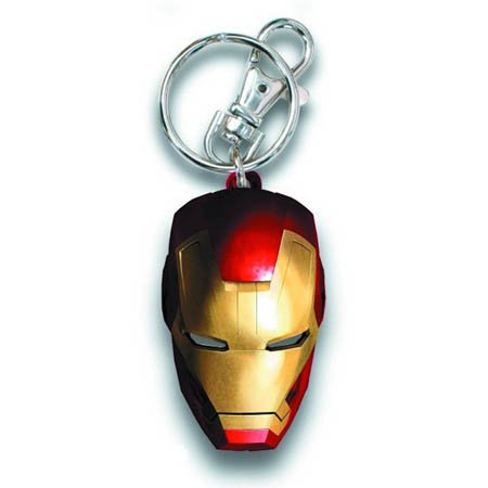 Iron Man 3 Helmet Color Painted Pewter Key Chain