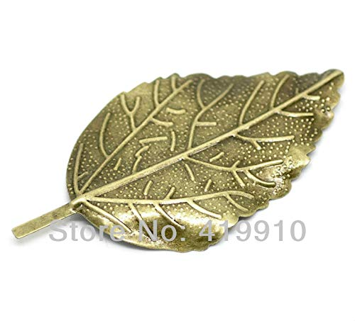 - DalaB -30Pcs Antique Bronze Filigree Leaf Connectors Embellishments Metal Crafts Decoration DIY Findings 6.6x3.3cm J0594