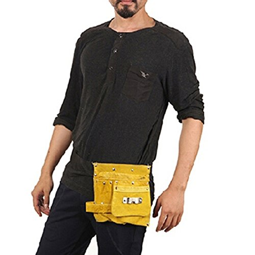 Joyutoy Premium Kids Leather Tool Belt / Tool Pouch with Steel Hammer Loops for Construction Play, Kids Costumes / Costumes for Kids or Kids Dress (Spirit Halloween Costume Coupon)