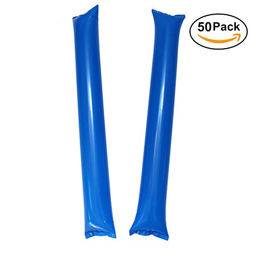 Lion Rugby (Thunder Sticks, Inflatable Stadium Noisemakers Bam Bam Cheer Sticks Blow Bar Inflatable Boom Sticks Noisemakers Stick Basketball Football Noisemakers Party Favors (Blue))