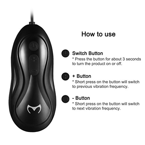 Utimi Vibrating Penis Training Glans Stimulator Glans Sleeve Remote Control 12-mode Penis Vibrators with 2 Training Modes