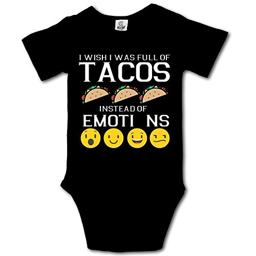 BjlkMLMLM I Wish I was 22Full of Tacos Instead of Emotions Baby Outfit Creeper Short Sleeves Onesies for $<!--$11.90-->