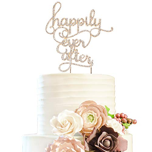 Happily Ever After Cake Topper (Happily Ever After Wedding Rhinestone Cake Topper Bridal Shower Anniversary Crystal Decoration -)