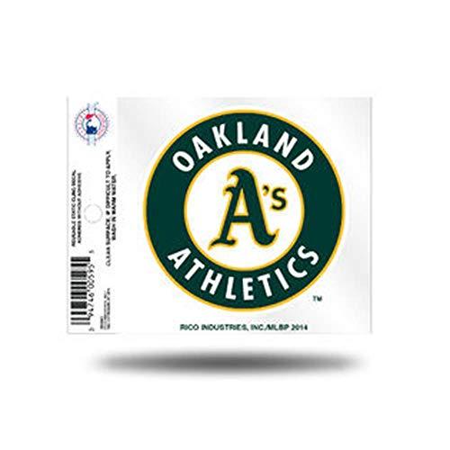 Rico MLB Oakland Athletics Products MLB Small Static Cling Oakland Athletics, Black