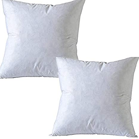 Izo Home Goods Superior Cleaner Hypoallergenic Set Of 18x18 95 Feather Pillow 5 Down Pillow Cotton Down Proof Shell Karate Chop Euro Pillows
