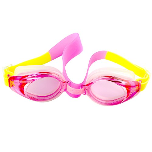 Toddler Swim Googles Anti-Water and Fog Swimming Diving Glasses for Boys and Girls; Clear Lenses with Glasses Box for Early - Swin Goggles