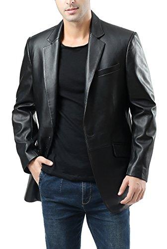 Black Leather Blazer Mens - 9