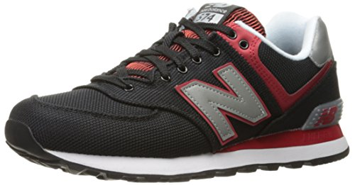 New Balance Men's ML574 Jetsetter Pack Fashion Sneaker, Black/Red/White, 12 D US