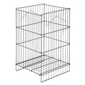 Allstate 08-401BL Adjustable Shelf Dump Bin, Black