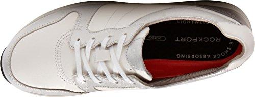 Rockport Womens Trustride Derby Allenatore Moda Sneaker Bianco / Metall