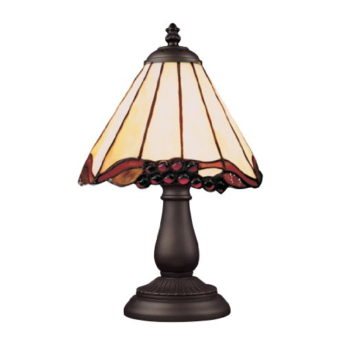 Elk 080-Tb-03 Mix And Match Grape Trellis Tiffany Table Lamp, Bronze