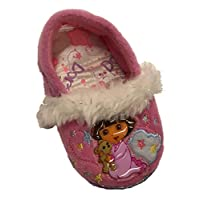 Toddler Girls Pink Dora The Explorer Loafer Style Slippers House Shoes Small 5-6