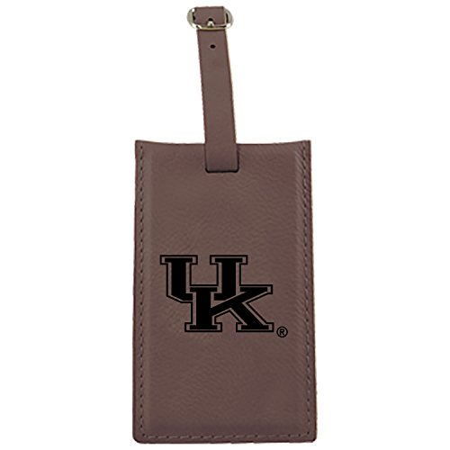 University of Kentucky -Leatherette Luggage Tag-Brown by LXG, Inc.