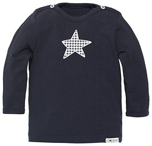 Noppies Baby - Jungen T-Shirt B Tee Ls Monsieur, Einfarbig, Gr. 62, Blau (Navy C166)