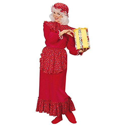 Traditional Mrs. Santa Claus Adult Christmas Costume Size 14-16 Large -