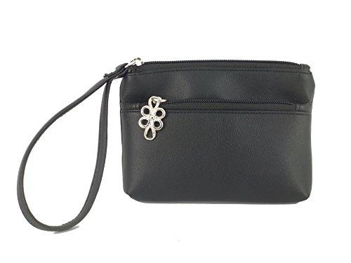 petit rose Black femme pour Look Leather rose Pochette LONI PzZXqX