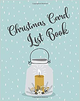 christmas card list book address book for christmas cards send
