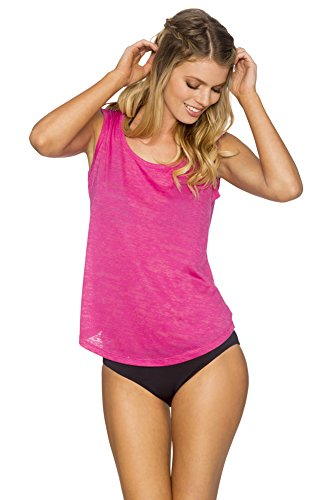 Sunset Womens Tank Top (Lavish Sleeveless Burnout T-Shirt #824,Large,Pink)