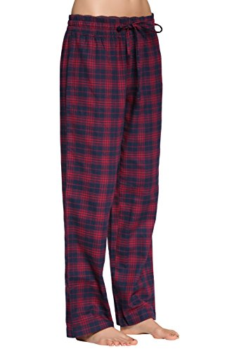 (CYZ Women's 100% Cotton Super Soft Flannel Plaid Pajama/Louge)