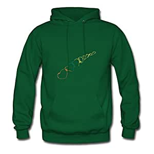 Hearts Hot X-large Hoodies Custom For Women Green