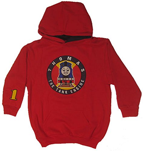 (Thomas The Tank Engine Youth Red Hooded Sweatshirt - Thomas Circle Logo (Size)