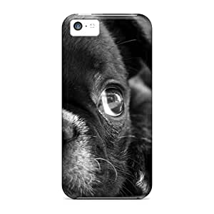 New Arrival Cover Case With Nice Design For Iphone 5c- Cute Black Puppy Hd Wide